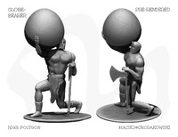 free globe bearer 3d model