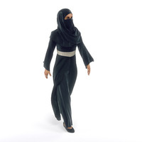 3d female arab model