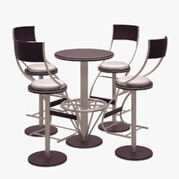 Bar Chair and Table Set 01