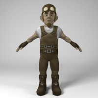 3d gnome engineer model