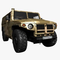 pickup tiger gaz 3d model