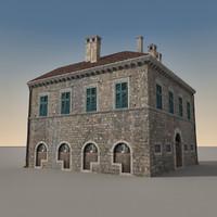 3d building italian model