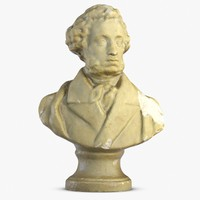 3d alexander pushkin model