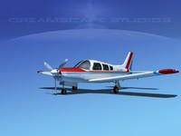 propeller piper cherokee 3d obj