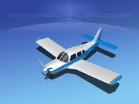propeller piper cherokee arrow 3d 3ds