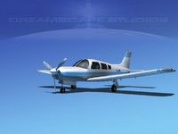 propeller piper cherokee arrow 3d model