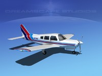 propeller piper cherokee 3d model