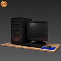 desktop computer 3d obj