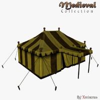 military tent medieval 3ds