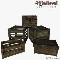 3d boxes chest ready model