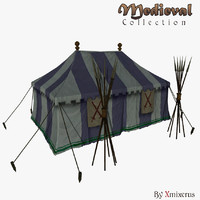 3ds max military tent medieval