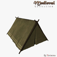 3d model military tent medieval
