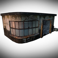 stylized building 3d model