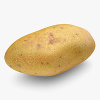 realistic potato yellow red 3d 3ds