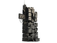 3d building sci fi
