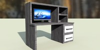 3d tv desk