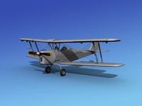 3d model tiger moth dehavilland dh-82