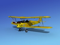 3d model of tiger moth dehavilland