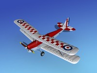3d model tiger moth dehavilland