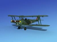 3d tiger moth dehavilland model