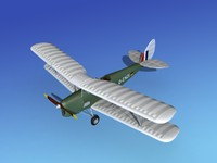 tiger moth dehavilland 3d obj