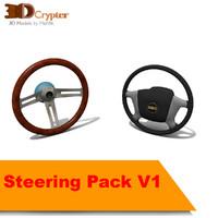 pack steerings 3d model