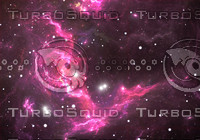 Space background with purple nebula and stars