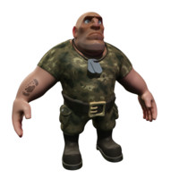 3d cartoon soldier model