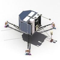 esa rosetta philae lander 3d max