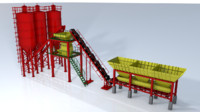 plant production cement factory c4d