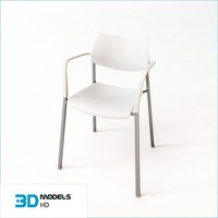 3d meeting hall chair model