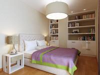 3d model modern bedroom interior