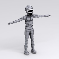 android character 3d model