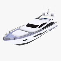3d model motor yacht