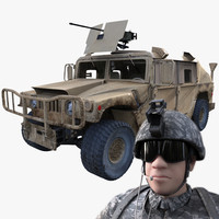 3d military hummer marine rig