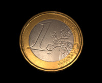 free euro coin 3d model