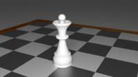 queen piece chess 3d obj