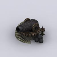 fantasy cannon 3d max