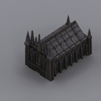 gothic fantasy church 3d max