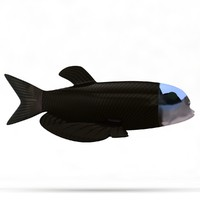 barrel-eye fish 3d max
