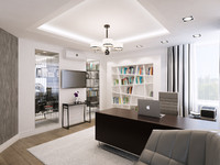 3d max home office interior