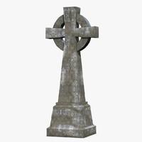 stone gravestone grave 3d obj