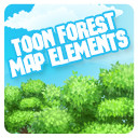 2D Toon Forest Map Elements