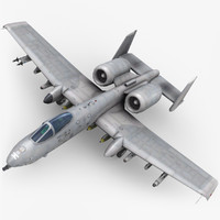 3d fairchild a-10 thunderbolt ii model