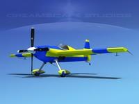 extra sport flugzeugbau ea300 3d max