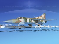 mig-23 flogger b fighter 3d 3ds