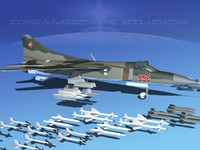 3d mig-23 flogger b fighter model