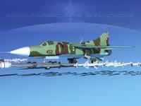 3d max mig-23 flogger b fighter