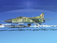3d model mig-23 flogger b fighter