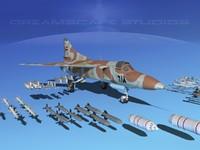 mig-23 flogger b fighter 3d dwg